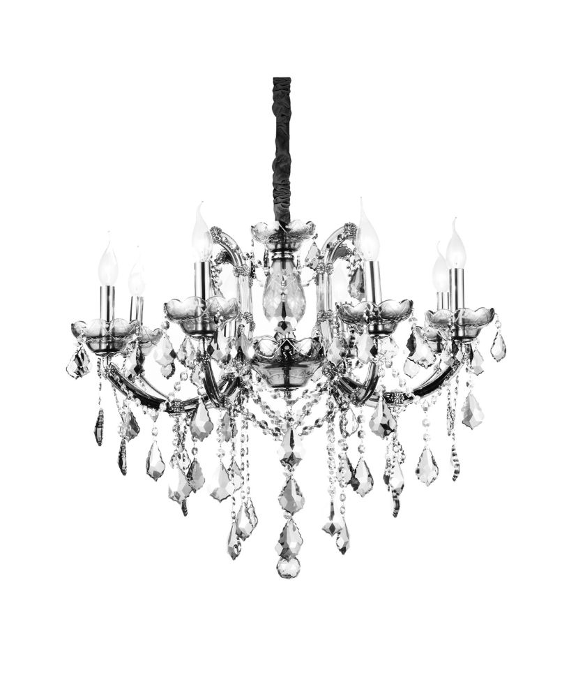 CWI Lighting Riley 28-inch 8 Light Chandelier with Chrome Finish