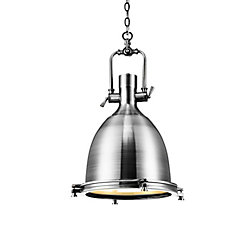 CWI Lighting Show 14-inch 1 Light Mini Pendant with Satin Nickel Finish