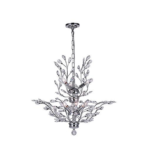 Ivy 28-inch 9 Light Chandelier with Chrome Finish