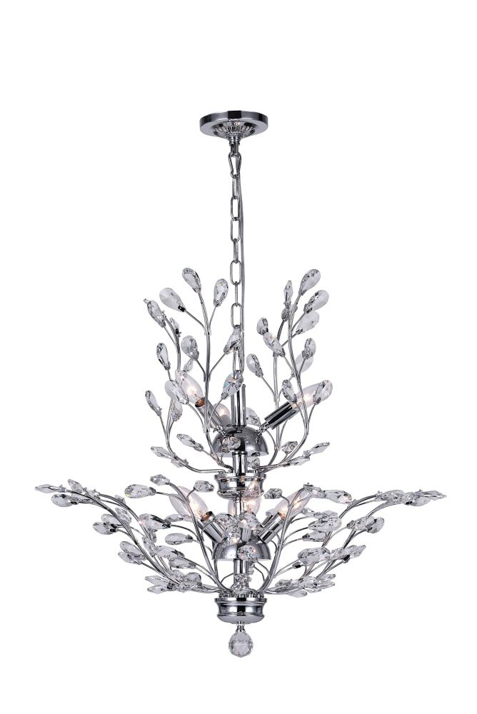 CWI Lighting Ivy 28-inch 9 Light Chandelier with Chrome Finish