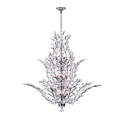 Ivy 40-inch 18-Light Chandelier with Chrome Finish