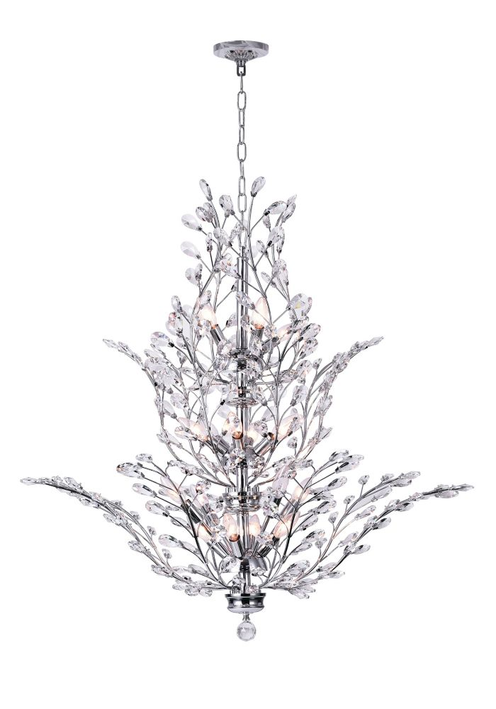 CWI Lighting Ivy 40-inch 18 Light Chandelier with Chrome Finish