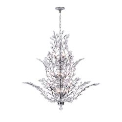 CWI Lighting Ivy 40-inch 18-Light Chandelier with Chrome Finish