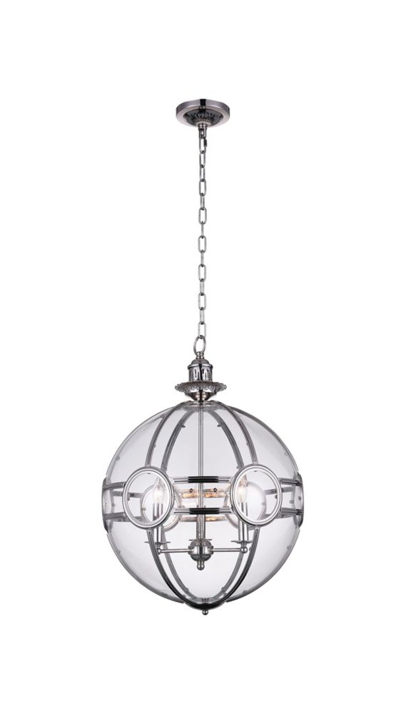 Beas 20-inch 3 Light Chandelier with Chrome Finish