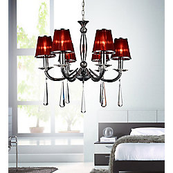 CWI Lighting Dina 25-inch 6 Light Chandelier with Chrome Finish