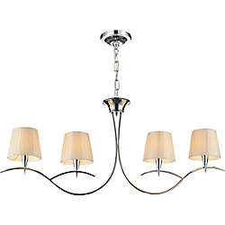 CWI Lighting Accomplished 40-inch 4 Light Chandelier with Chrome Finish