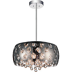 CWI Lighting Azalea 20-inch 6 Light Chandelier with Chrome Finish