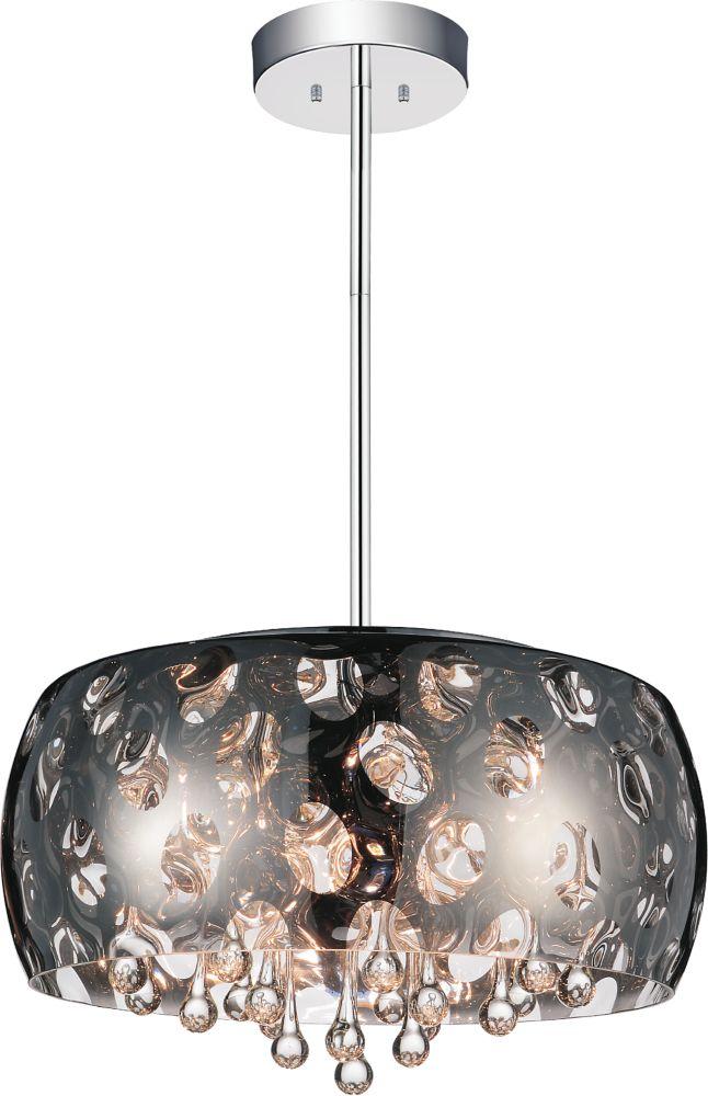 CWI Lighting Azalea 20-inch 6 Light Chandelier with Chrome Finish