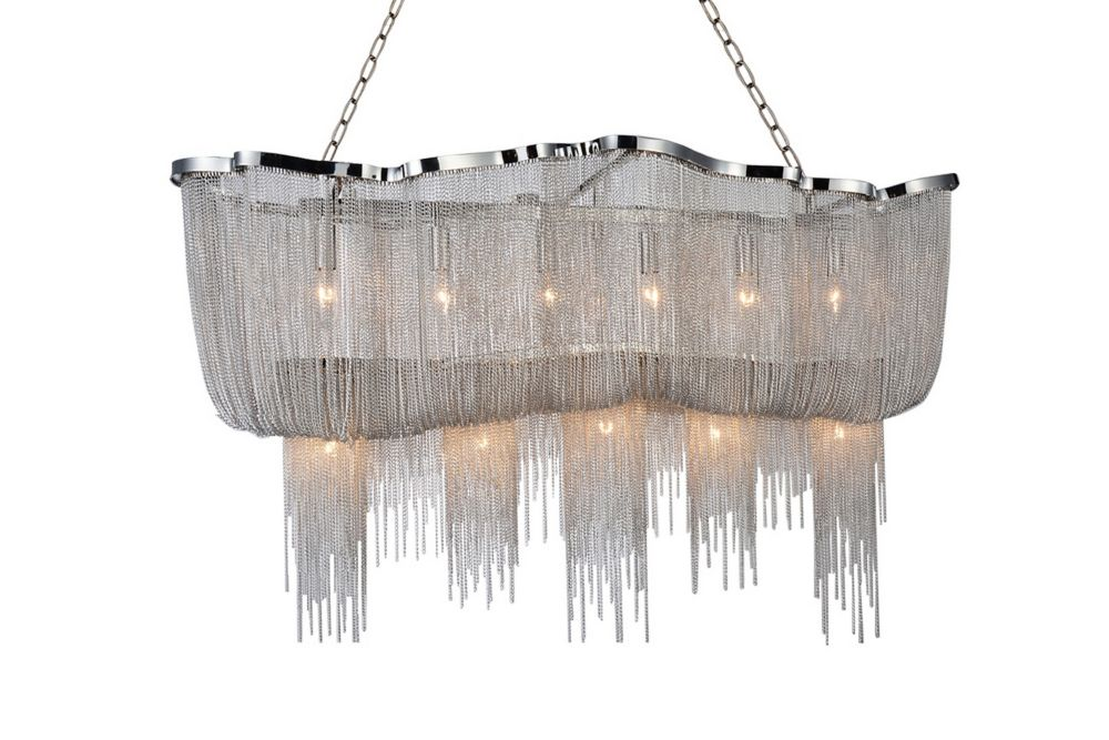Secca 55-inch 13 Light Chandelier with Chrome Finish