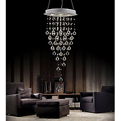 "CWI Lighting 18"" Robin 3 Lumière Lustre avec Fini chromé"
