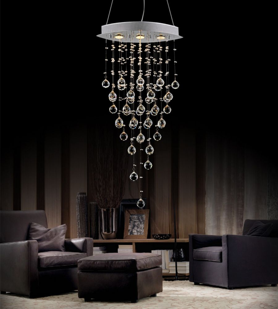 Robin 18-inch 3 Light Chandelier with Chrome Finish