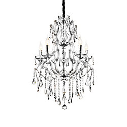 Abby 32-inch 9 Light Chandelier with Chrome Finish