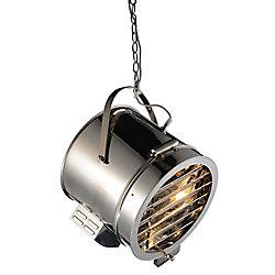 CWI Lighting Broadway 13-inch 1 Light Mini Pendant with Chrome Finish