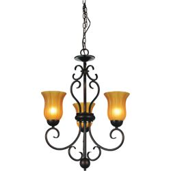 CWI Lighting Dulce 22-inch 3 Light Chandelier with Chocolate Finish