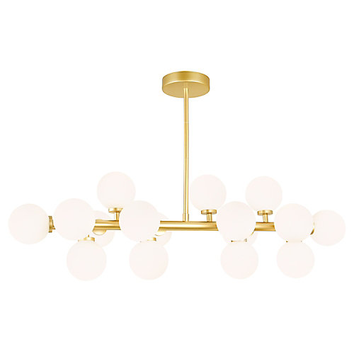 Arya 36-inch 16 Light Chandelier with Satin Gold Finish
