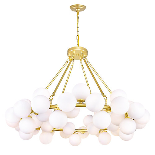 Arya 39-inch 45 Light Chandelier with Satin Gold Finish