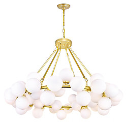 CWI Lighting Arya 39-inch 45 Light Chandelier with Satin Gold Finish