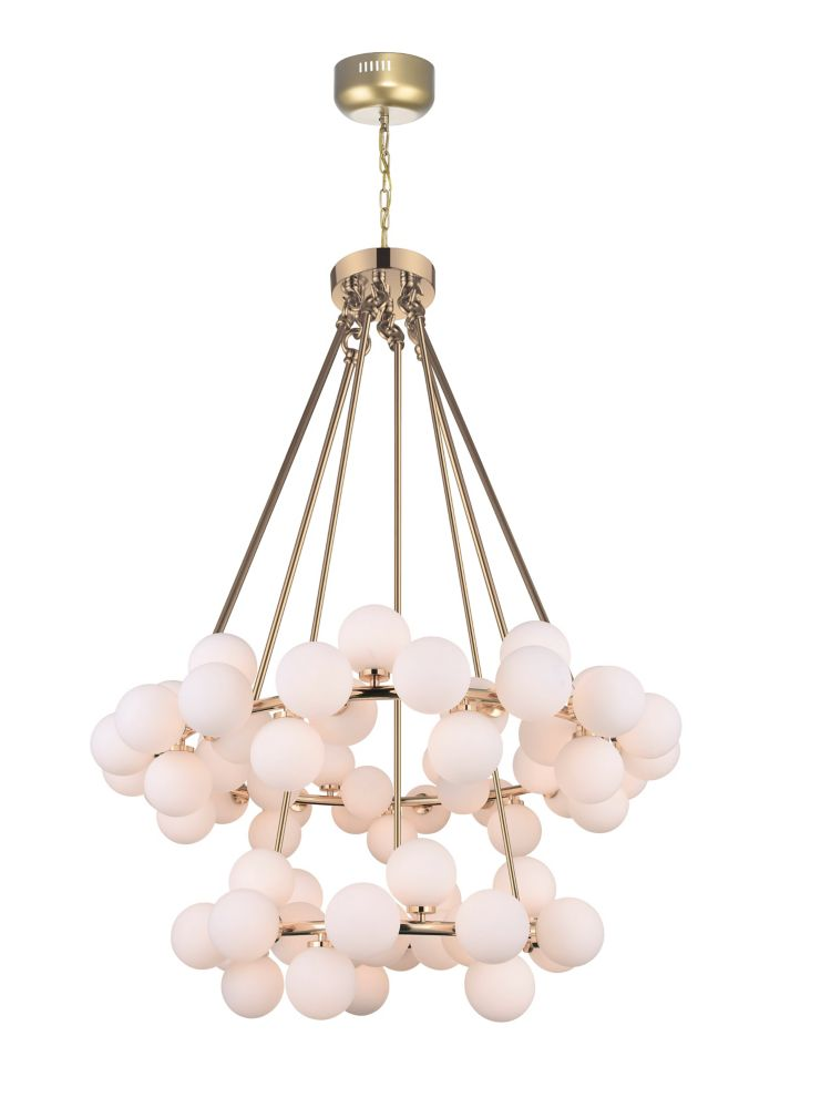 CWI Lighting Arya 39-inch 70 Light Chandelier with Satin Gold Finish