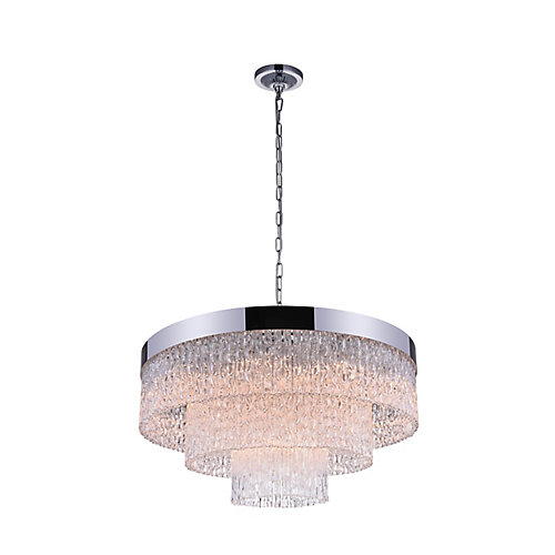 Carlotta 32-inch 12 Light Chandelier with Chrome Finish