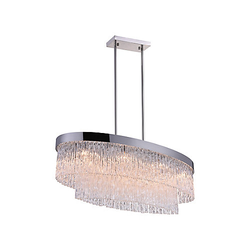 Carlotta 36-inch 8 Light Chandelier with Chrome Finish