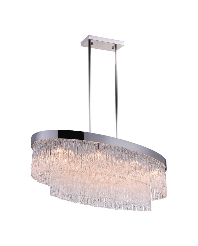 CWI Lighting Carlotta 36-inch 8 Light Chandelier with Chrome Finish
