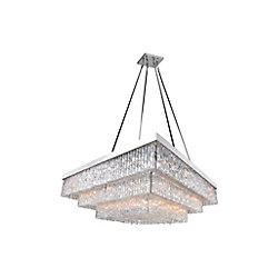 CWI Lighting Carlotta 45-inch 36 Light Chandelier with Chrome Finish