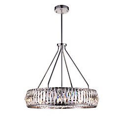 Squill 22-inch 8 Light Chandelier with Polished Nickel Finish