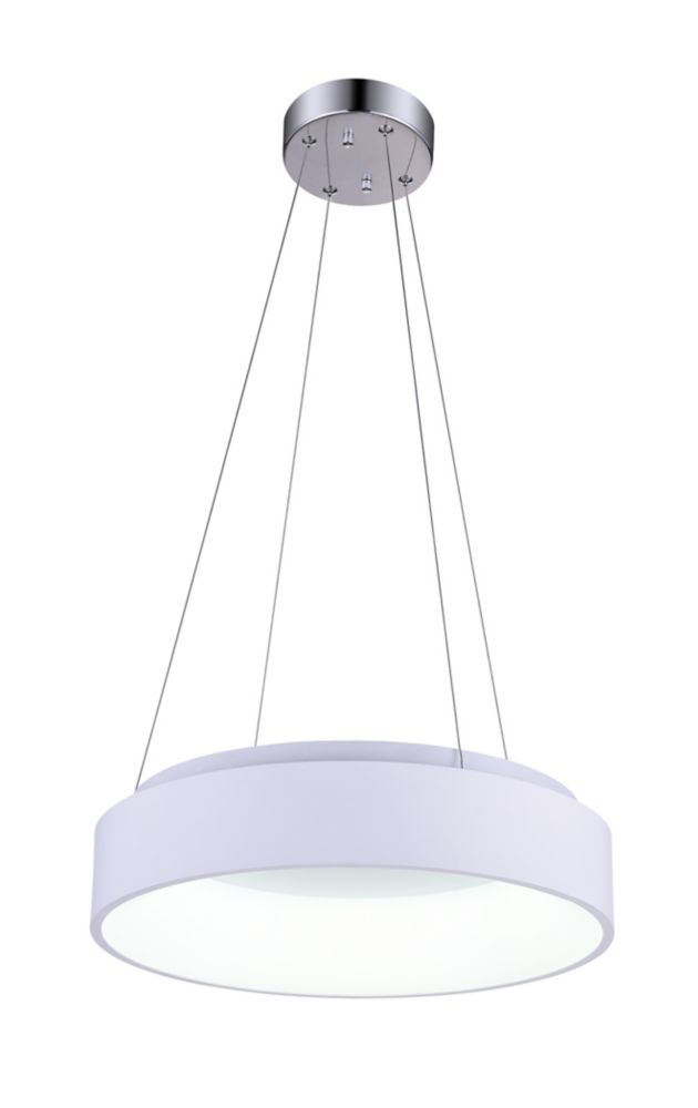 CWI Lighting Arenal 18 inch LED Chandelier with White Finish