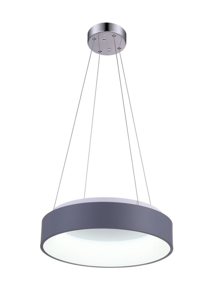 CWI Lighting Arenal 18-inch LED Mini Chandelier with Gray Finish