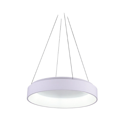 Arenal 24 inch LED Chandelier with White Finish