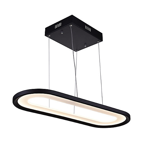 Capel 27-inch LED Chandelier with Black Finish