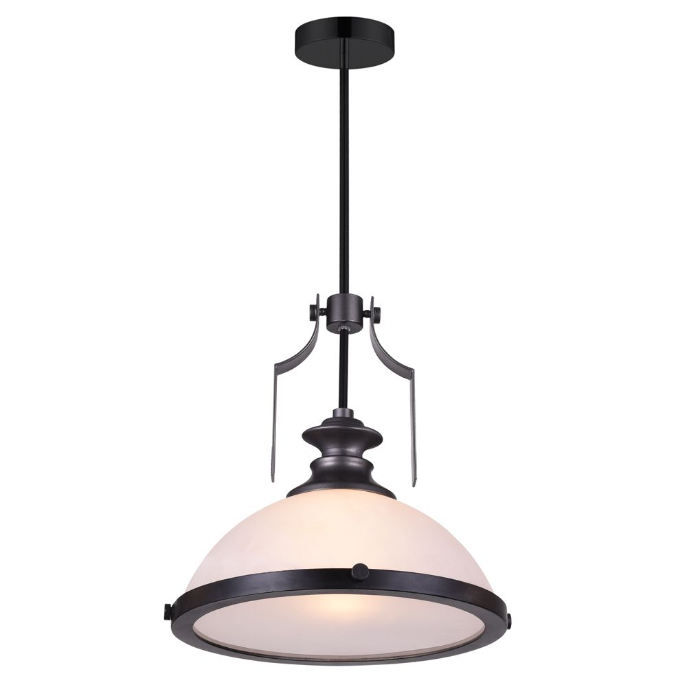 CWI Lighting Detti 12-inch 1 Light Mini Pendant with Gun Metal Finish
