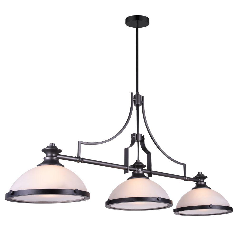 Detti 52-inch 3 Light Chandelier with Gun Metal Finish