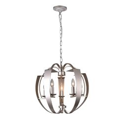 CWI Lighting Verbena 21-inch 5 Light Chandelier with Pewter Finish