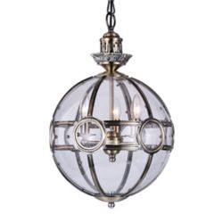 CWI Lighting Beas 14-inch 3 Light Mini Pendant with Antique Brass Finish