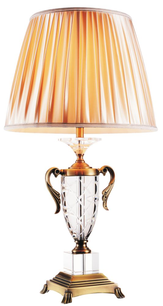 Yale 16-inch 1 Light Table Lamp with Antique Brass Finish