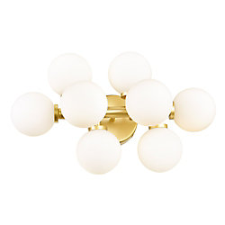 Arya 18-inch 8 Light Wall Sconce with Satin Gold Finish