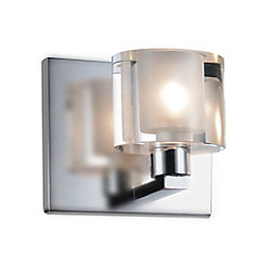 CWI Lighting Tina 4-inch 1 Light Wall Sconce with Satin Nickel Finish
