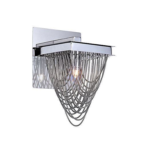 Isla 6-inch 1 Light Wall Sconce with Chrome Finish