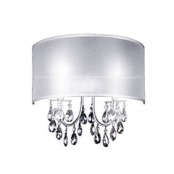 CWI Lighting Halo 7-inch 2 Light Wall Sconce with Chrome Finish