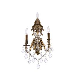 CWI Lighting Brass 10-inch 3 Light Wall Sconce with French Gold Finish