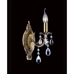 CWI Lighting Brass 8-inch 1 Light Wall Sconce with Antique Brass Finish