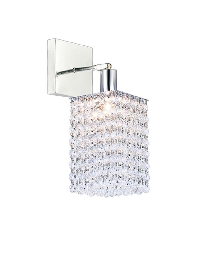 CWI Lighting Glitz 8-inch 1 Light Wall Sconce with Chrome Finish