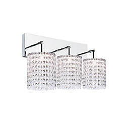 CWI Lighting Glitz 5-inch 3 Light Wall Sconce with Chrome Finish