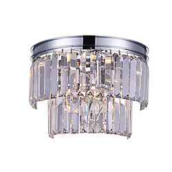 Weiss 10-inch 4 Light Wall Sconce with Chrome Finish