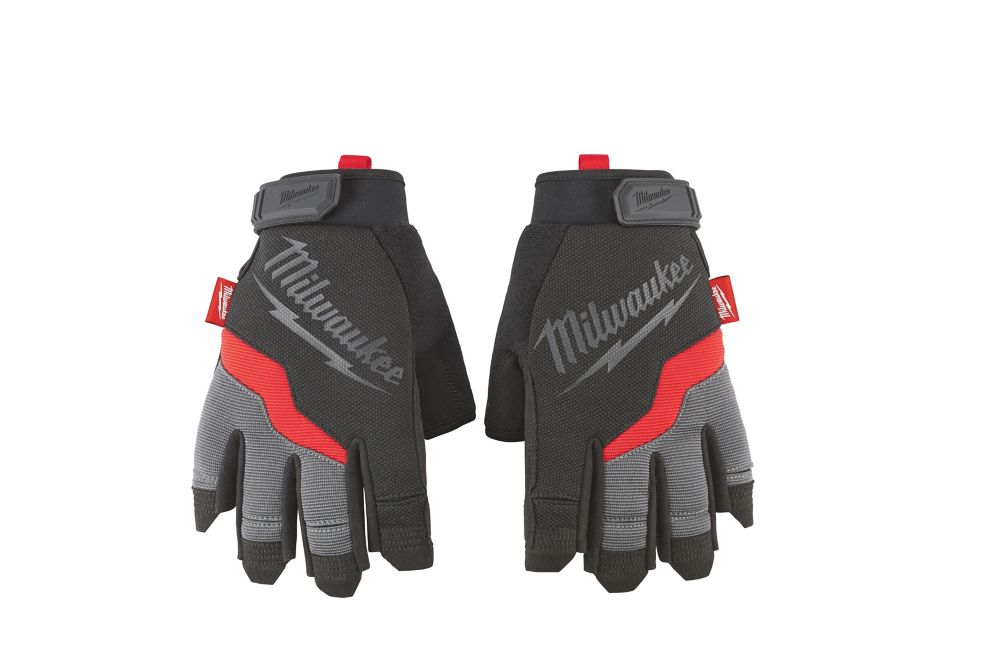 Milwaukee Tool Large Fingerless Work Gloves