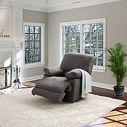Corliving Lea Grey Chenille Fabric Recliner