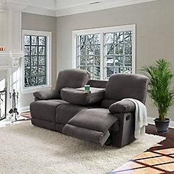 Corliving Lea Grey Chenille Fabric Reclining Sofa