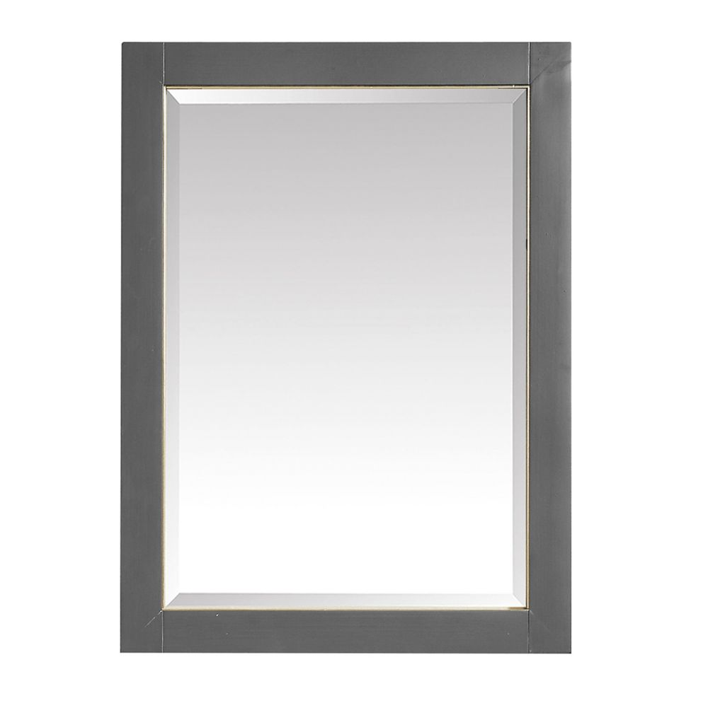 Avanity 24 inch Mirror for Allie / Austen in Twilight Gray w/ Gold Trim