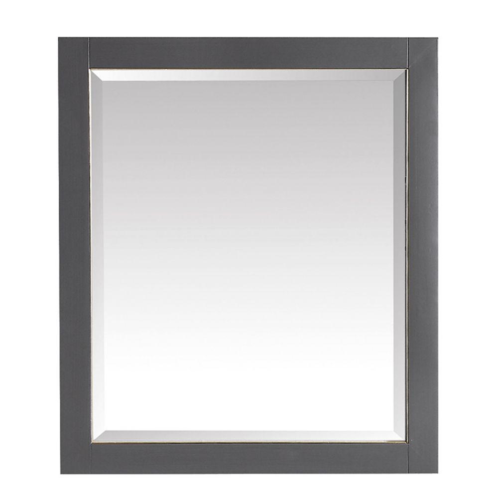 Avanity 28 inch Mirror for Allie / Austen in Twilight Gray w/ Gold Trim